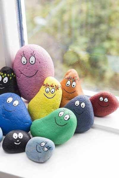 piedras pintadas actividades niños verano