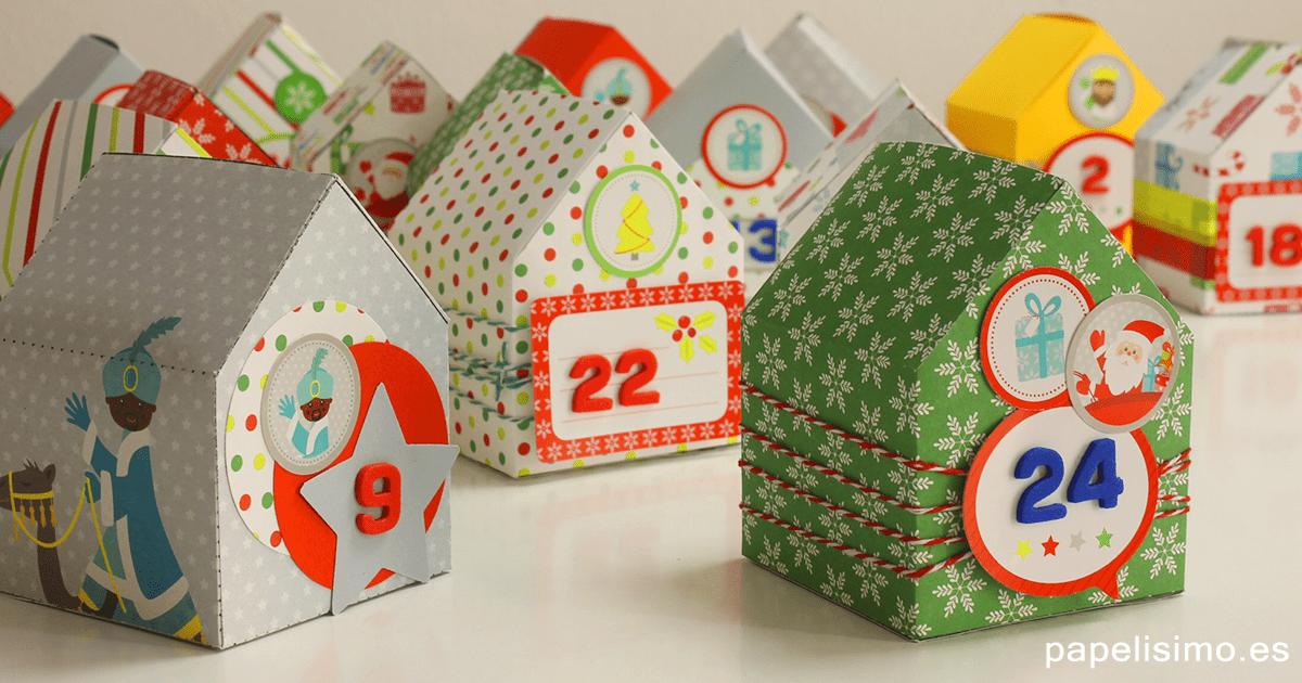 Calendario-de-Adviento-para-niños-de-papel-Advent-calendar-childrens