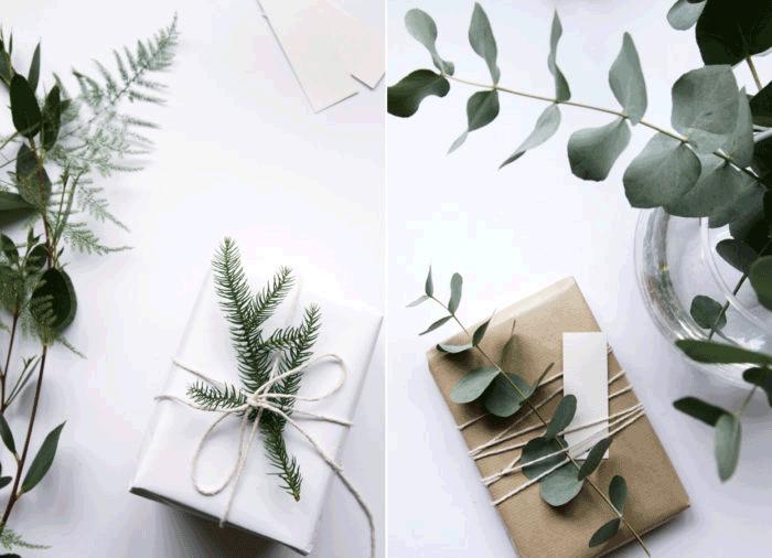 envolver regalos navidad papel kraft