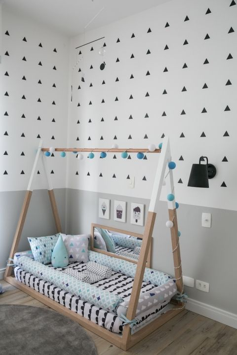 montessori bedroom - habitacion infantil - dormitorio montessori - cama - bed