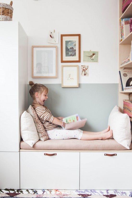 montessori bedroom - habitacion infantil - dormitorio montessori - rincon de lectura - reading corner 2
