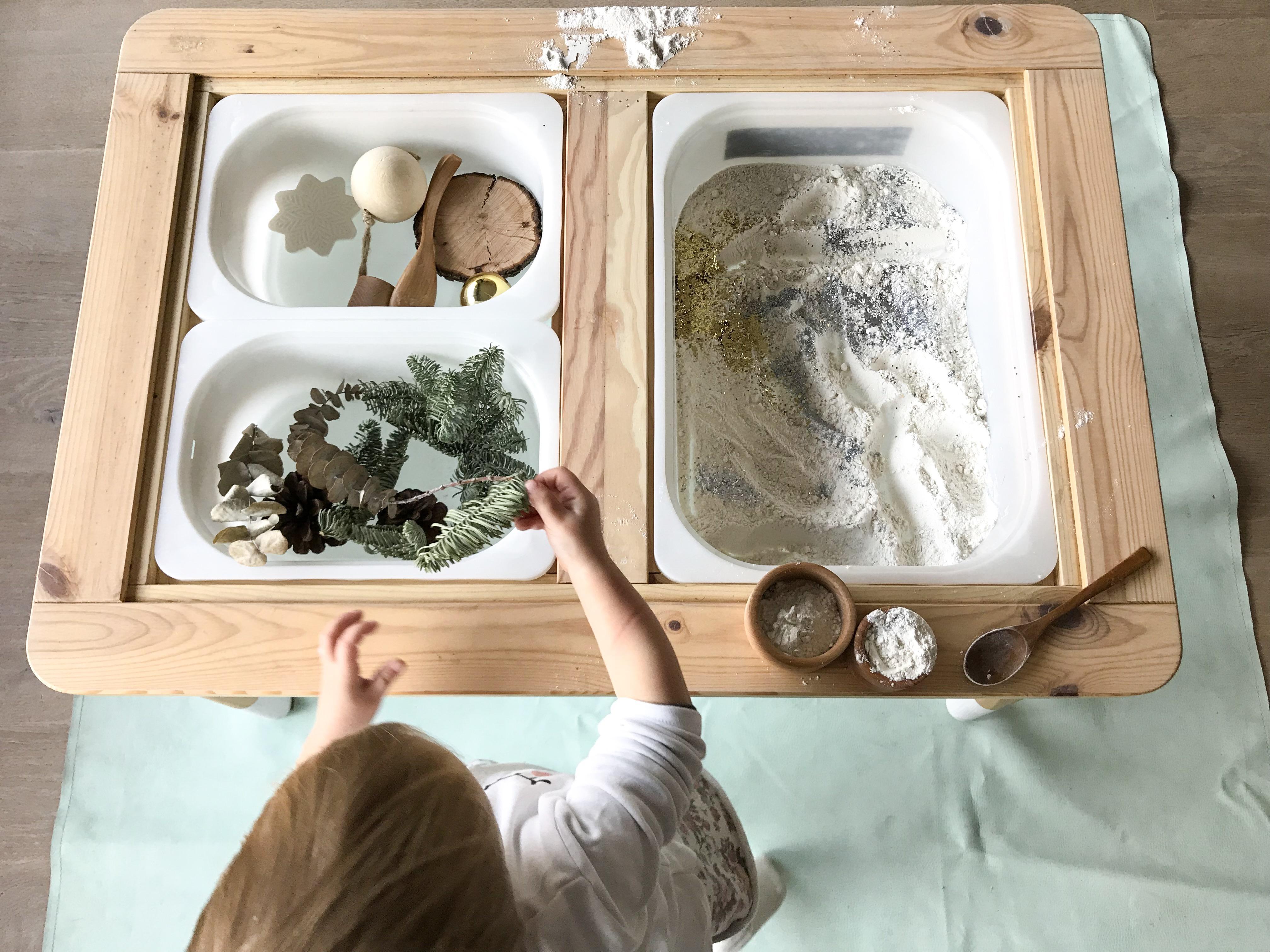 mesa de experimentacion estoreta - actividades estimulacion sensorial para niños - sensory play activities for children