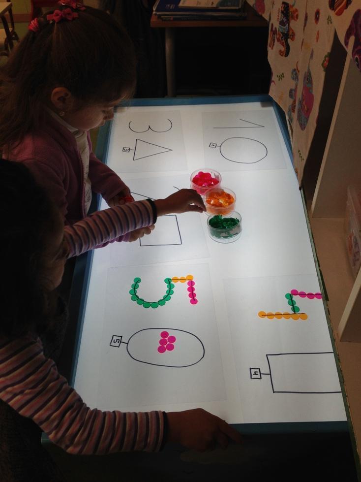 mesa de luz - actividades estimulacion sensorial para niños - sensory play activities for children