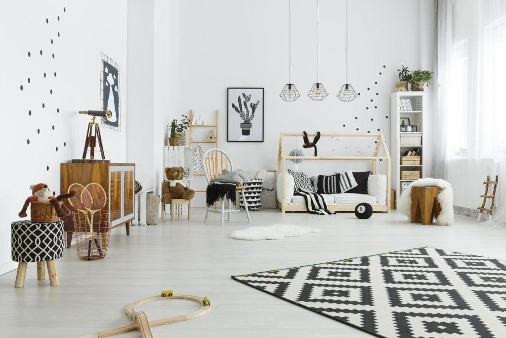 Montessori Child Room In Scandinavian Style
