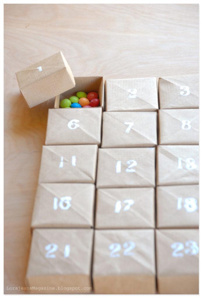 Advent Calendar Christmas - Calendario de Adviento Navidad DIY Homemade