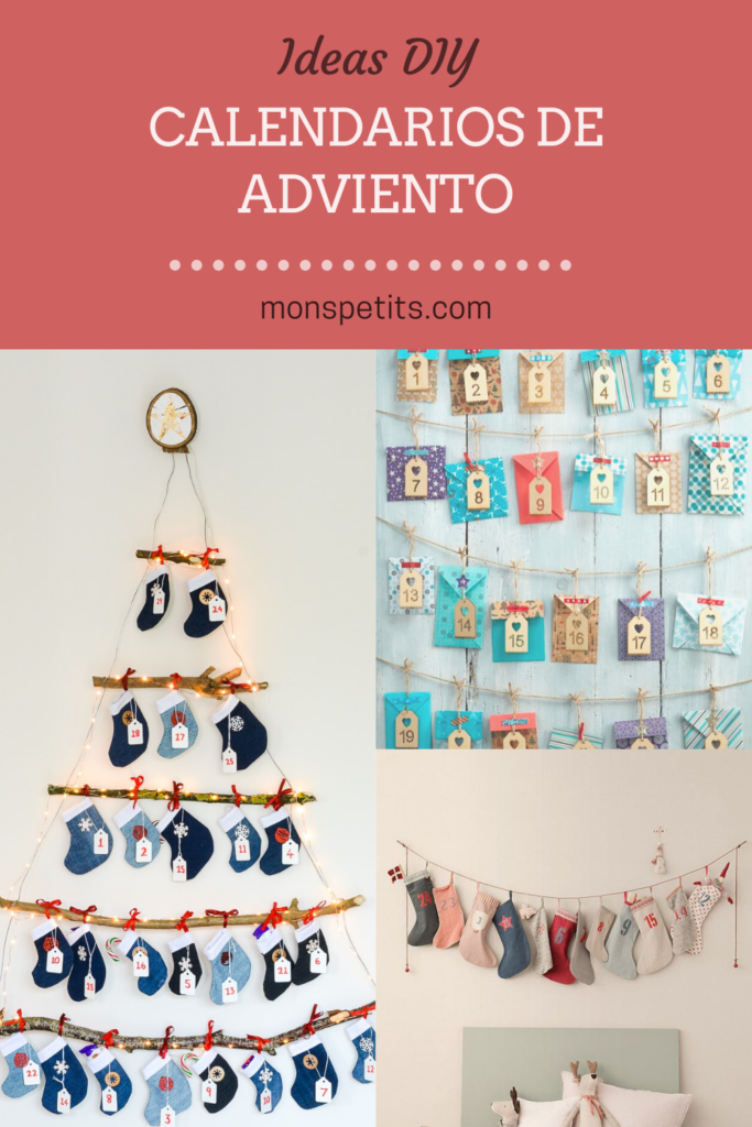 Ideas diy para calendarios de adviento - Navidad - DIY ideas to make advent calendars - Christmas