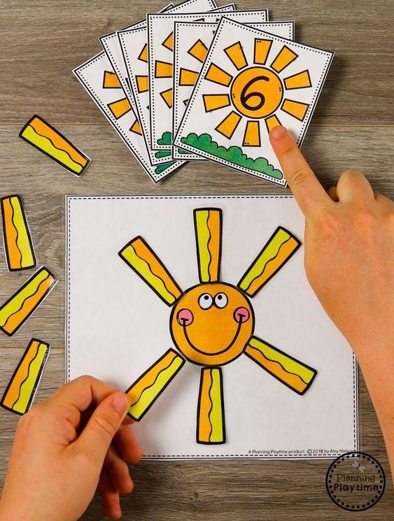 Actividades matemáticas para aprender los numeros - Math Activities to learn the numbers preschool kindergarten