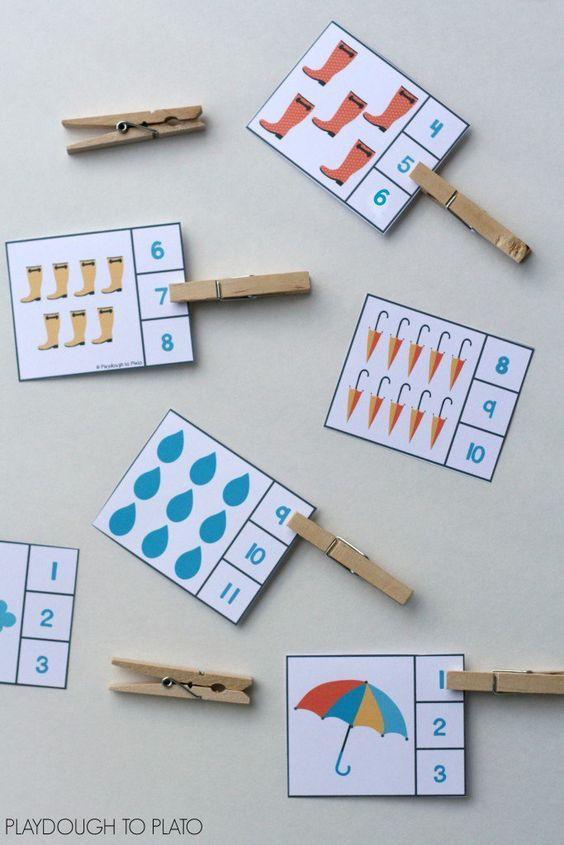 Actividades matemáticas para aprender los numeros - Math Activities to learn the numbers preschool kindergarten 4