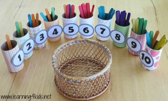 Actividades matemáticas para aprender los numeros - Math Activities to learn the numbers preschool kindergarten 9