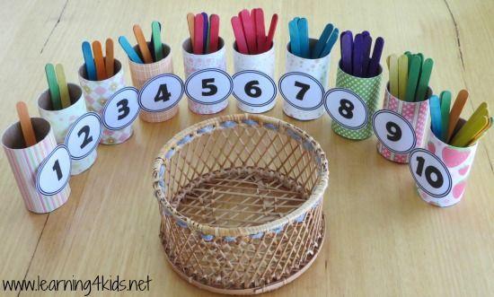 Actividades matemáticas para aprender los numeros - Math Activities to learn the numbers preschool kindergarten 9