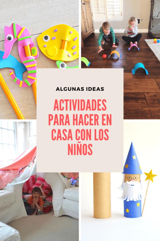 Actividades para hacer en casa con los niños