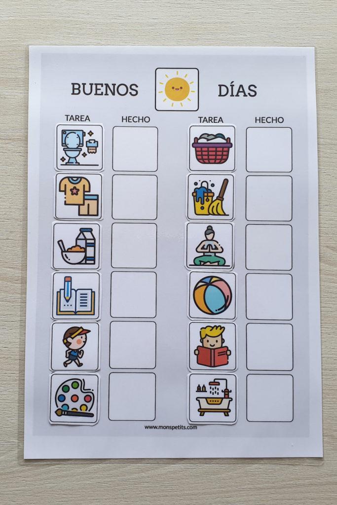 Plantillas de rutinas para niños para descargar e imprimir gratis 6