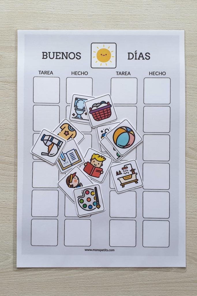 Plantillas de rutinas para niños para descargar e imprimir gratis 7