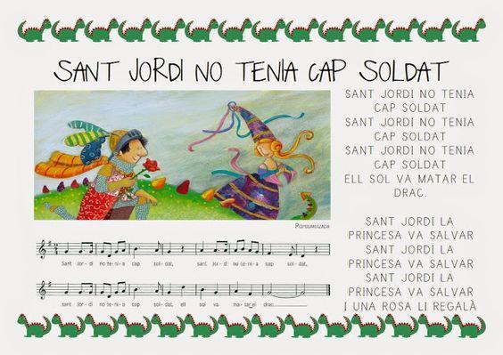 Canço Sant Jordi no tenia cap soldat - Activitats recursos Sant Jordi