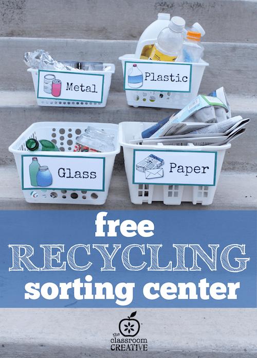 Recursos trabajar medio ambiente y reciclaje para niños