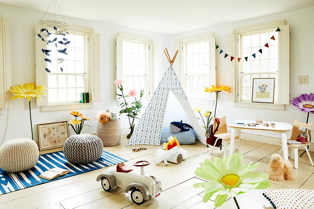 Ideas playrooms grandes pequeñas minimalistas montessori