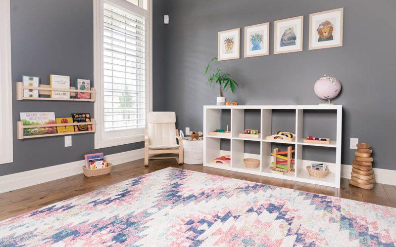 Ideas playrooms grandes pequeñas minimalistas montessori 2