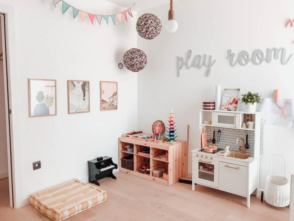 Ideas playrooms grandes pequeñas minimalistas montessori 9