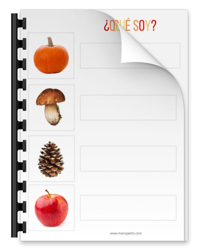 Actividades de otoño descargables gratis pdf - Que soy