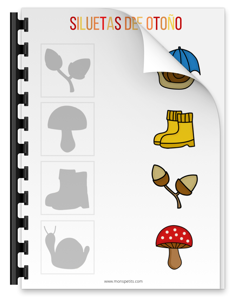 Actividades de otoño descargables gratis pdf - Siluetas de otoño