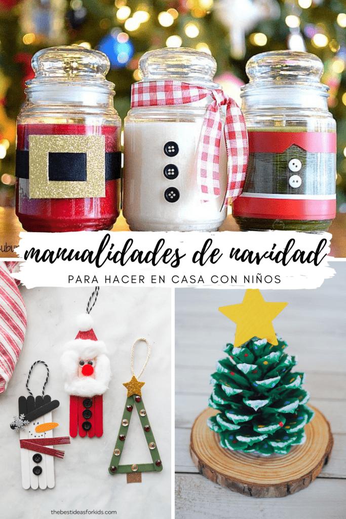 Manualidades de Navidad para hacer en casa con los niños - Christmas Crafts with kids at home