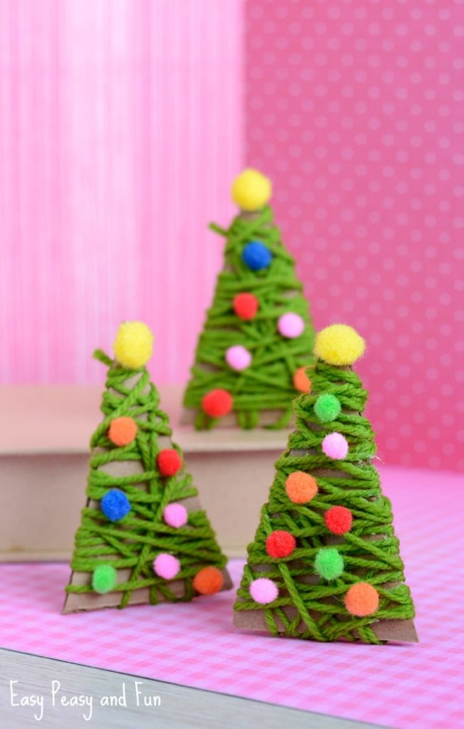 Manualidades para Navidad para hacer con niños en casa - Christmas Crafts with Kids to make at home - Abrol con hilos
