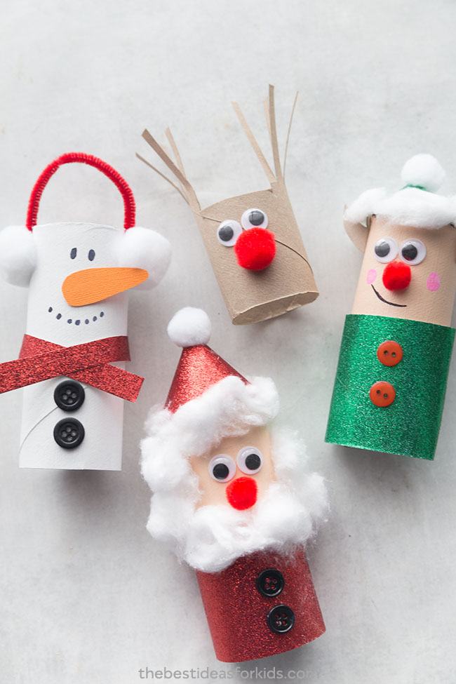 Manualidades para Navidad para hacer con niños en casa - Christmas Crafts with Kids to make at home - Con rollos de papel wc