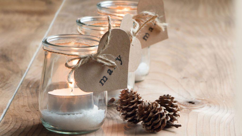 Manualidades para Navidad para hacer con niños en casa - Christmas Crafts with Kids to make at home - Frasco de Navidad para velas