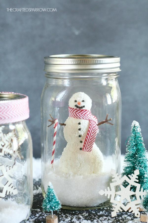 Manualidades para Navidad para hacer con niños en casa - Christmas Crafts with Kids to make at home - Manualidad Bola de Nieve DIY
