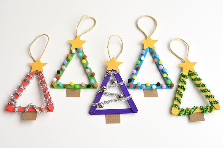 Manualidades para Navidad para hacer con niños en casa - Christmas Crafts with Kids to make at home - Manualidad con palos de helado 2
