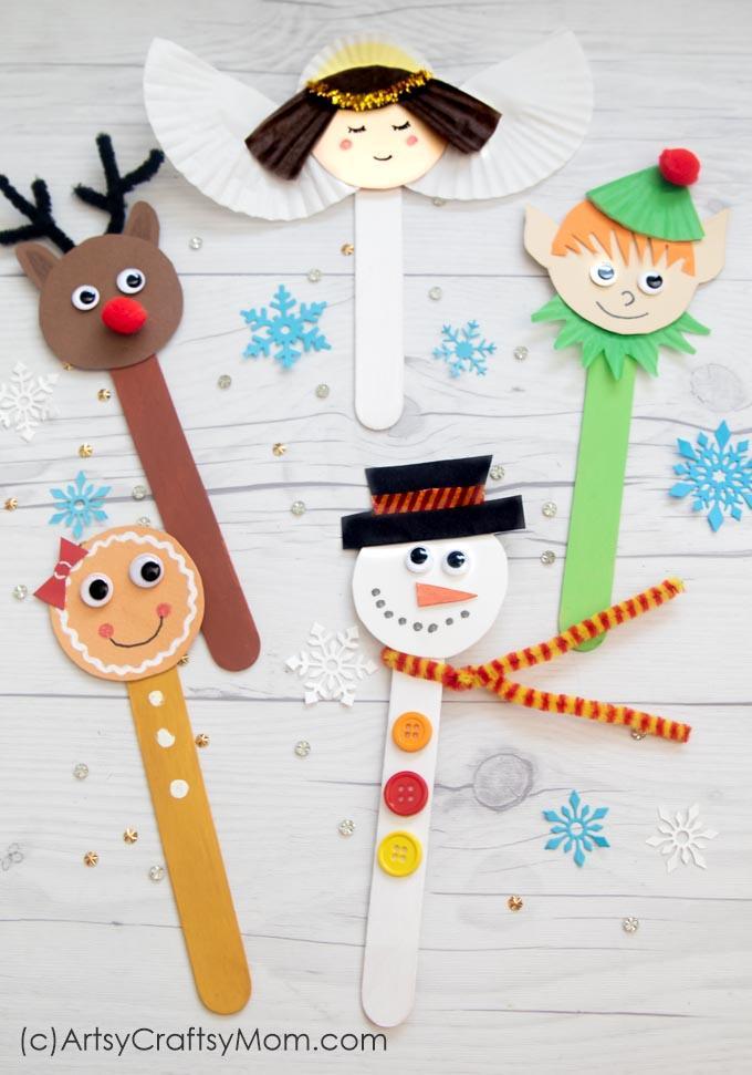 Manualidades para Navidad para hacer con niños en casa - Christmas Crafts with Kids to make at home - Manualidad con palos de helado 3