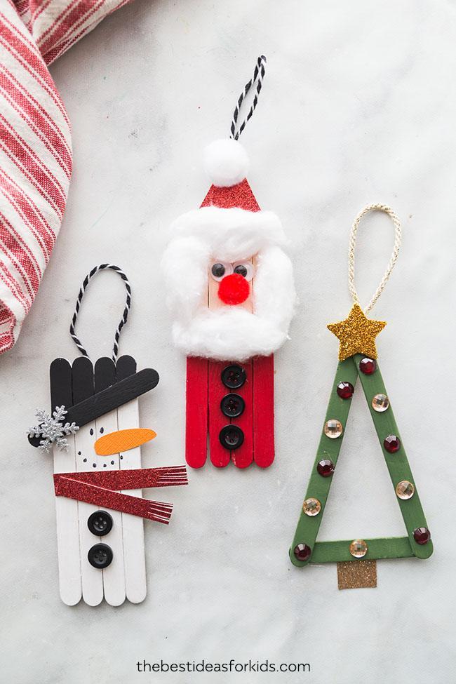 Manualidades para Navidad para hacer con niños en casa - Christmas Crafts with Kids to make at home - Manualidad con palos de helado