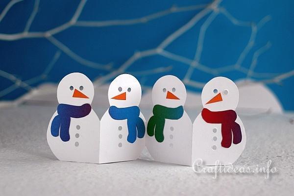 Manualidades para Navidad para hacer con niños en casa - Christmas Crafts with Kids to make at home - Muñeco de nieve de papel