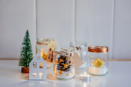 Tarros decorados de Navidad DIY - Decorated Christmas Jars