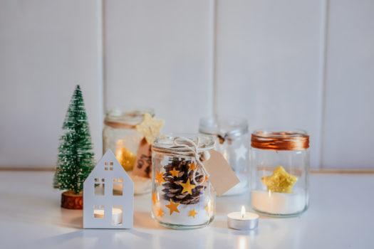 Tarros decorados de Navidad DIY - Decorated Christmas Jars