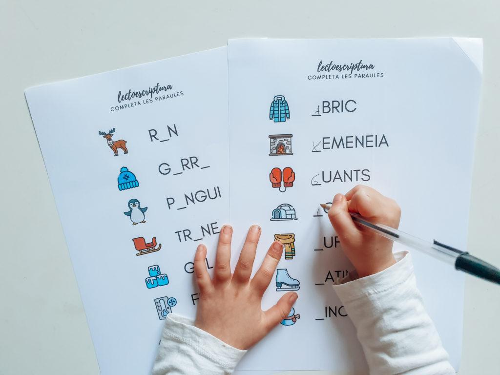 Actividades lectoescritura navidad - Descargable Gratis - Imprimir en pdf - Actividades infantiles letras Castellano
