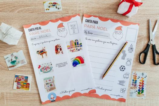 Carta a Reyes Magos y Papá Noel Descargable para imprimir Gratis