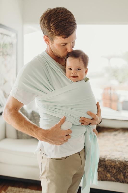 Imprescindibles para la llegada del bebe - Fular Elastico Portabebes Boba Wrap