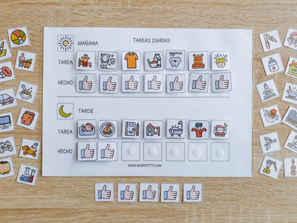 Pack descargable gratis de habitos y rutinas para niños - by monspetits.com - Trabajar las rutinas