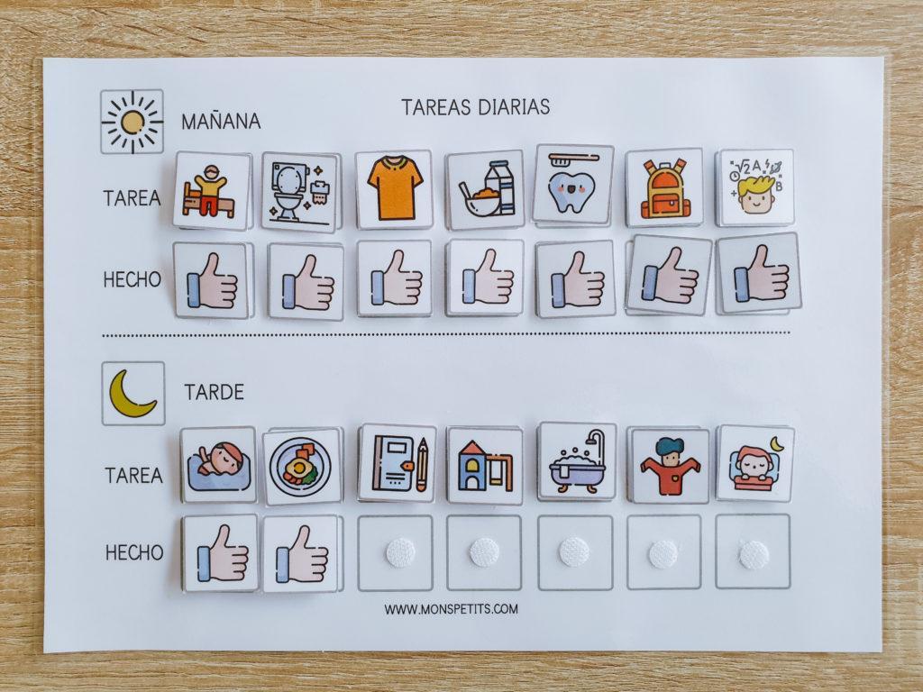 Pack descargable gratis de habitos y rutinas para niños - by monspetits.com - Rutinas