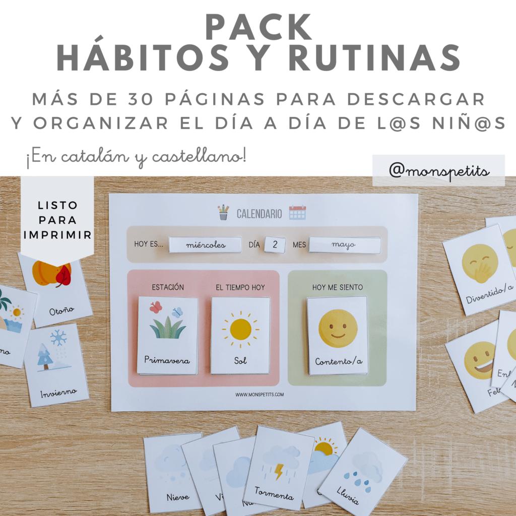 Pack descargable gratis de habitos y rutinas para niños - by monspetits.com 9
